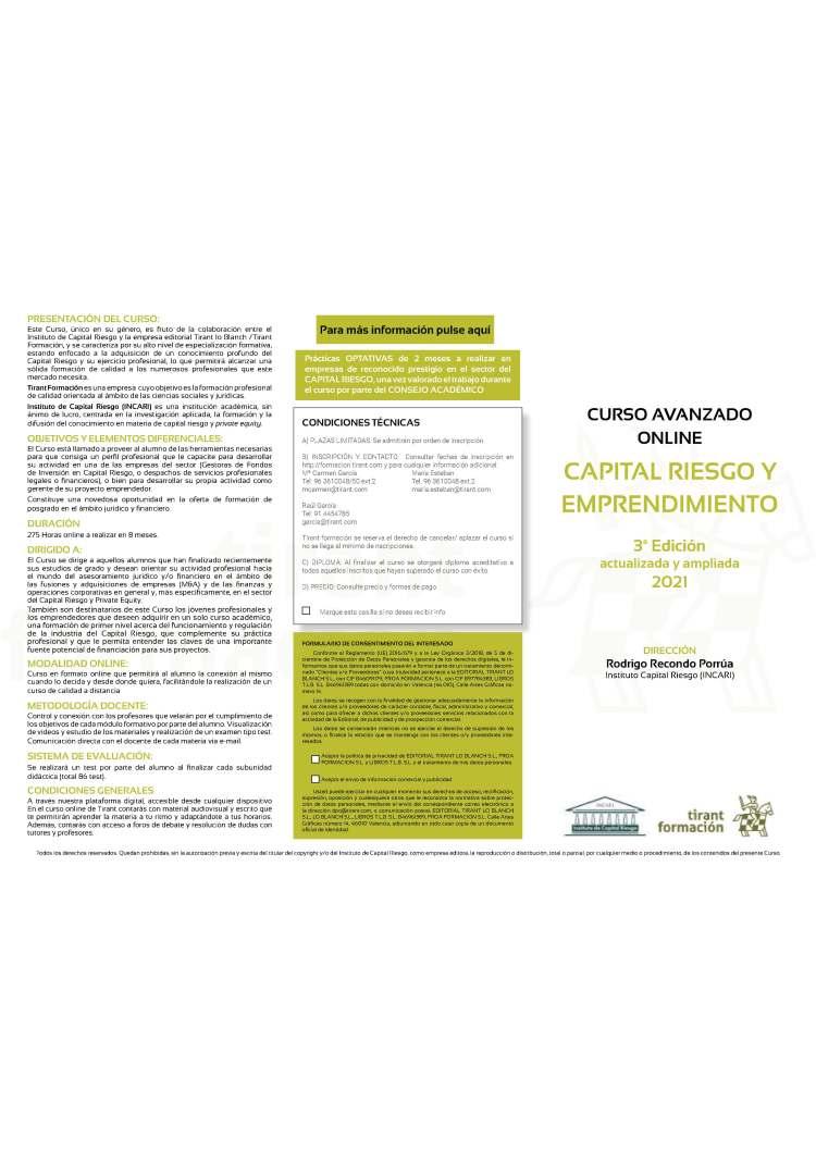 Curso Master de Capital Riesgo y Emprendimiento - 3ª Edición