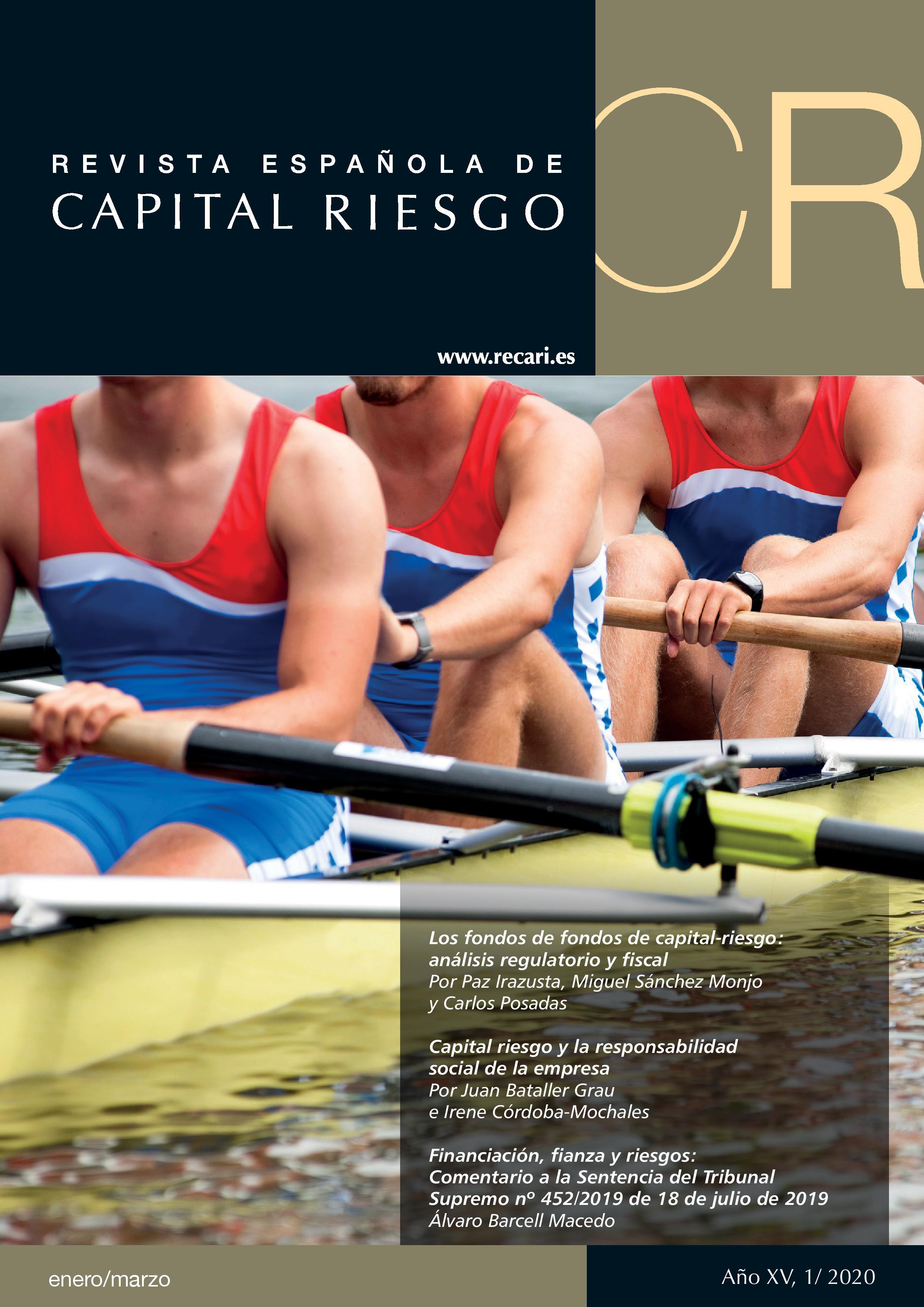 Portada Revista Española de  Capital Riesgo 1T.2020